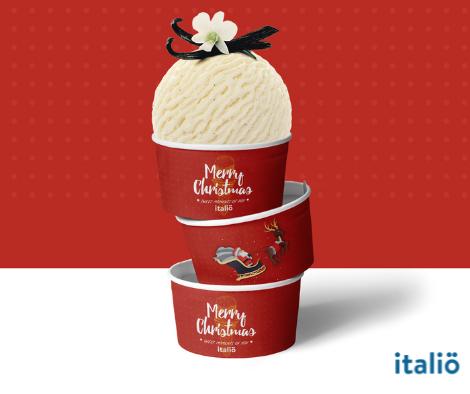 Ly giấy dựng kem vừa Italio