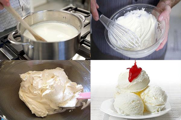 Cách làm kem tươi từ sữa tươi 5