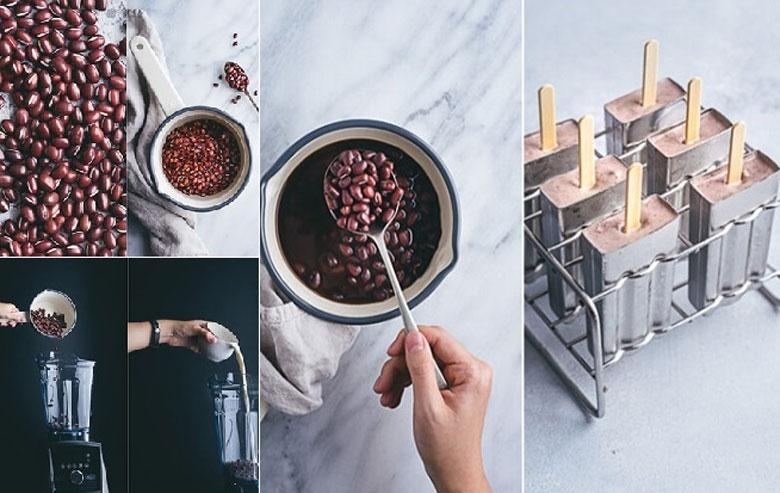 Cách làm kem đậu đỏ 5