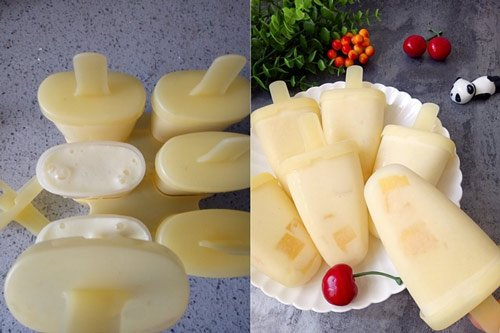 Cách làm kem hoa quả tươi 2